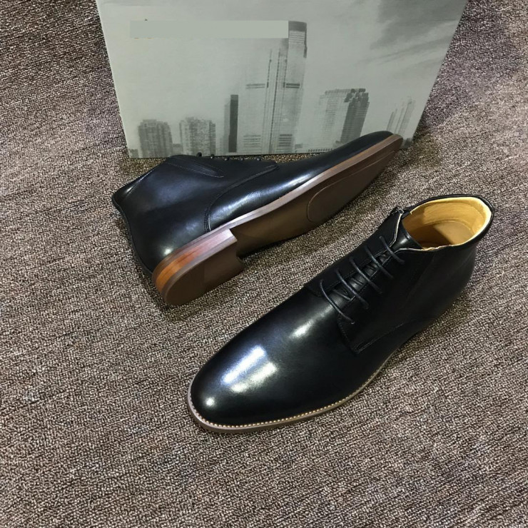 Black Lace up Chelsea Boot