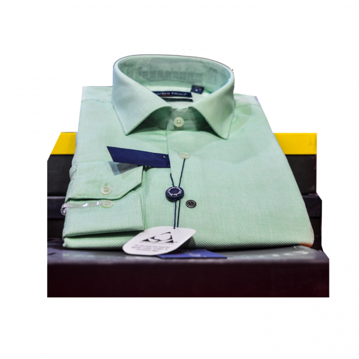 Weaved Green color Charles Dino shirt