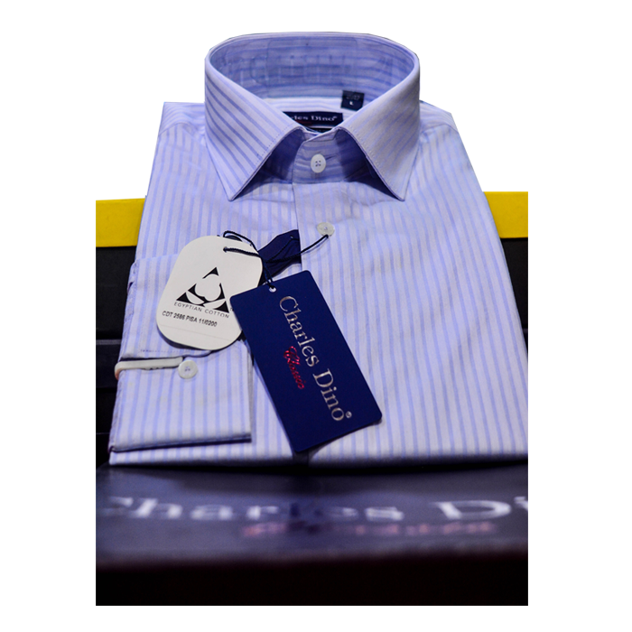 light blue stripe Charles Dino shirt