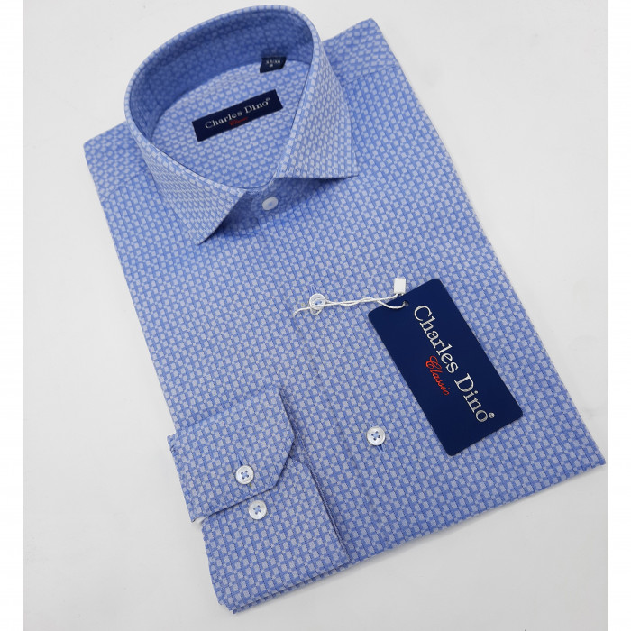 Polka Dot Blue Charles Dino shirt