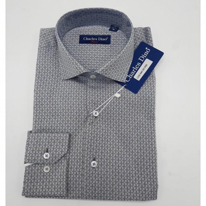 Dark Grey Polka Dot Charles Dino shirt