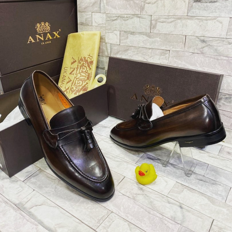 Dark Brown Kilt Loafer  Shoe