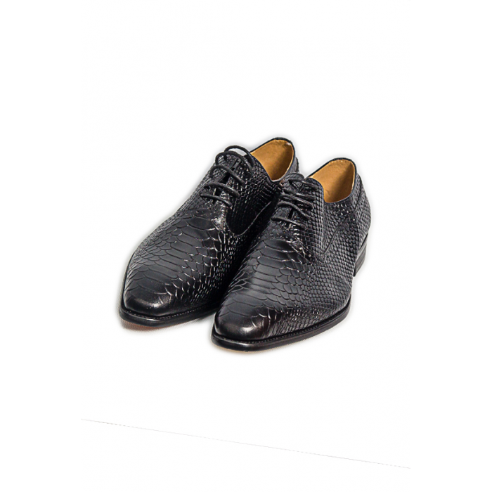 Snake Skin Derby Lace up Shoe
