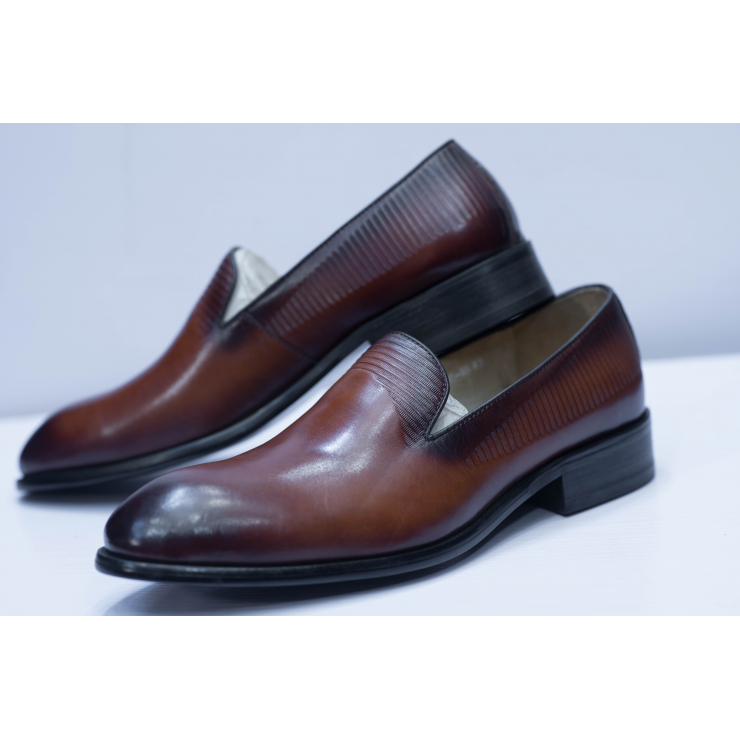 Brown Slipper Loafer Shoe
