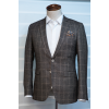 Brown checkers blazer jacket