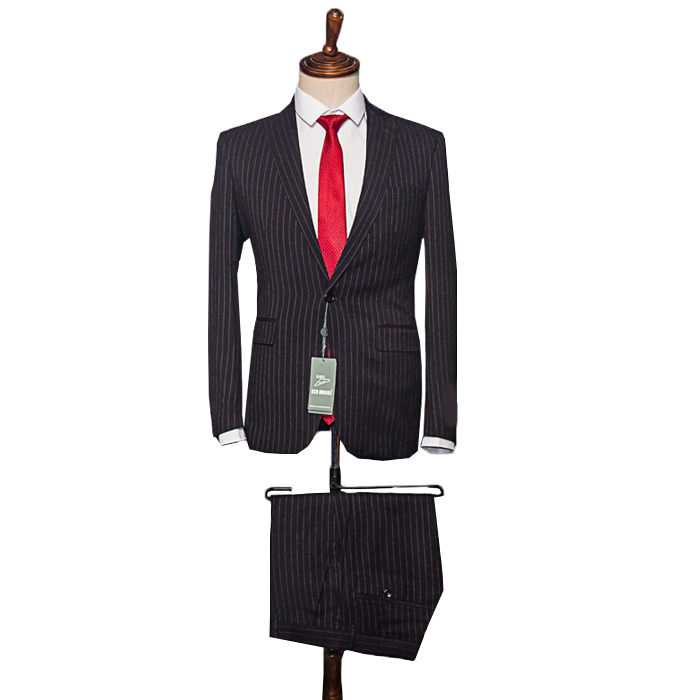 Black stripe suit
