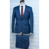 Navy blue checkers suit