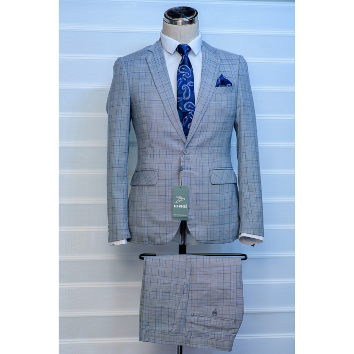 Light grey checkers suit