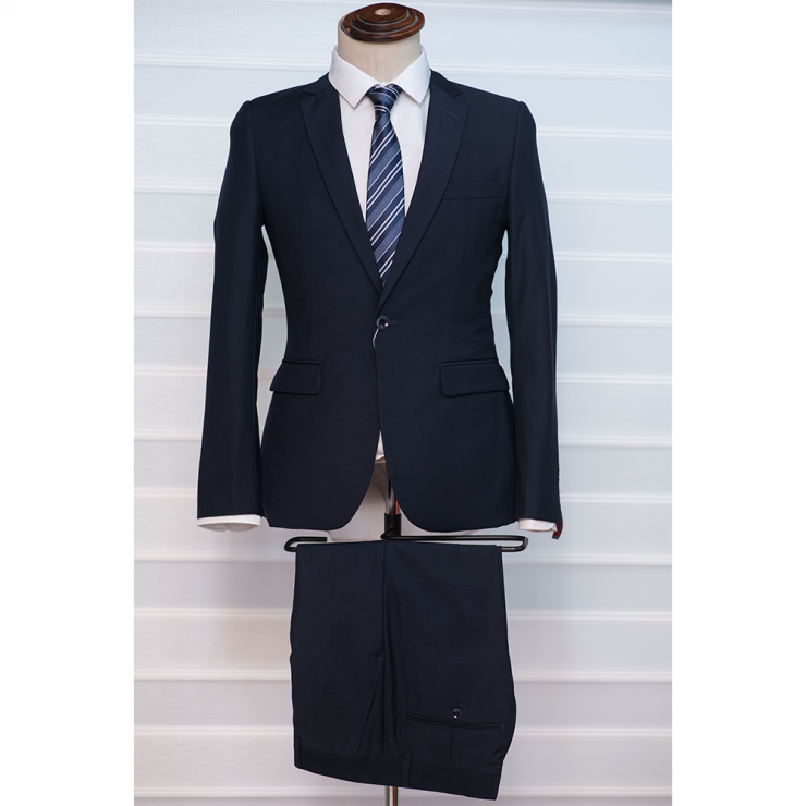Deep blue two piece suit