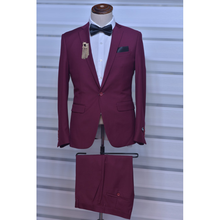 Wine Two Piece Suit