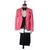 Pink three piece suit