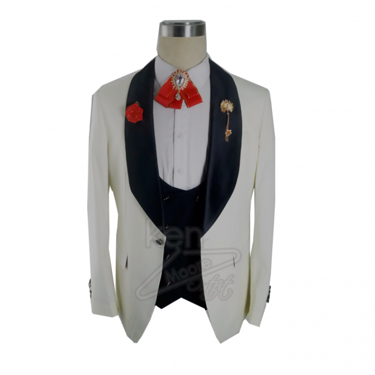 Cream/Milk Tuxedo with Bold Flap