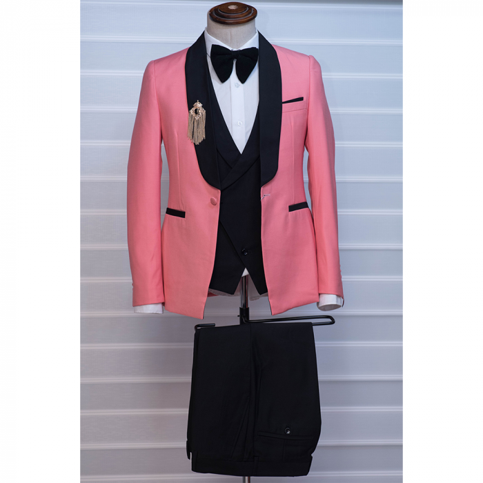 Peach Tuxedo Three Piece Suit
