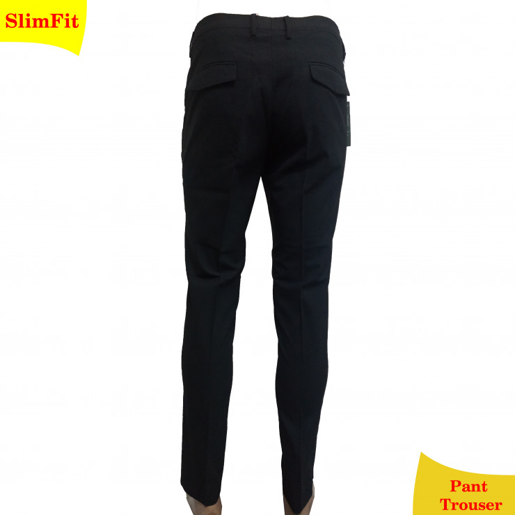 Black slim fit stretchy pant trouser