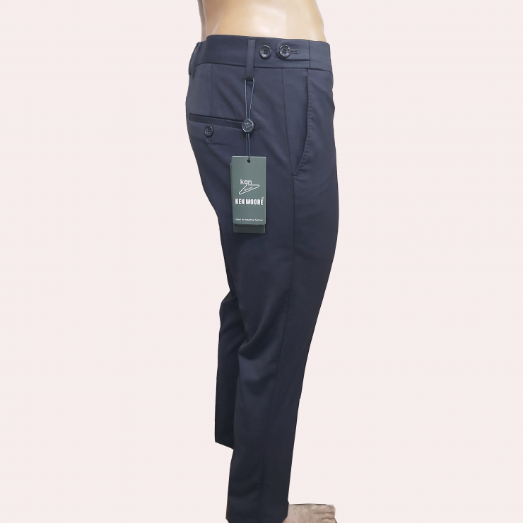 Grey colored Side buttoned Slim Fit Pant Trousers