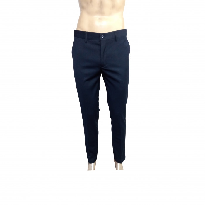 Blue Black side buttoned slim fit pant trousers