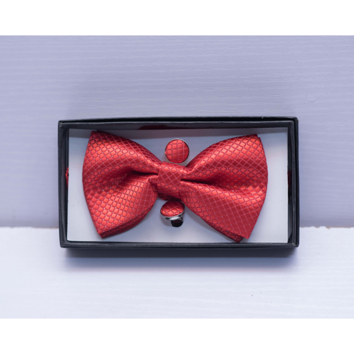 Polka Dot Red Bow Tie