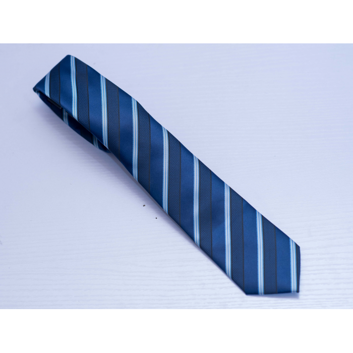 Blue Stripe long tie