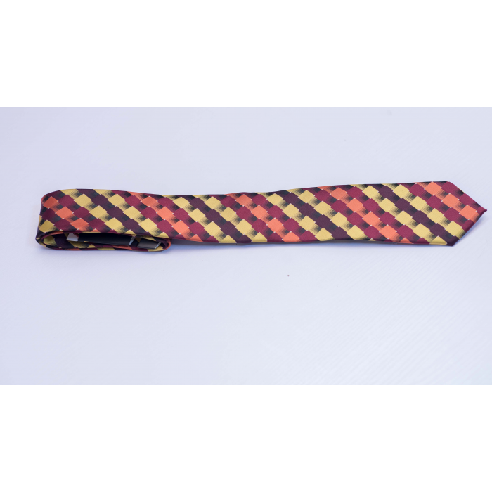 Multi-colored long tie