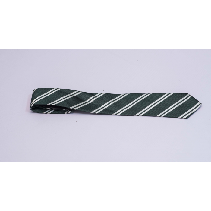 White Striped Black long tie