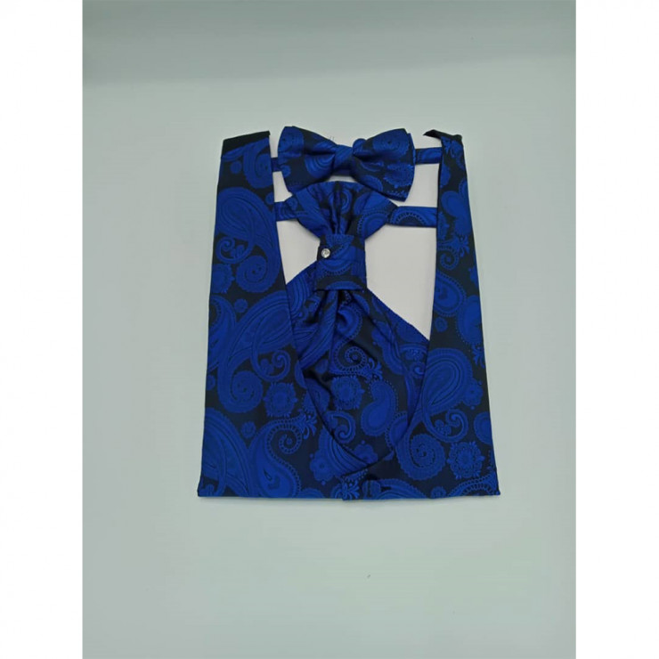 Royal blue floral Cravat