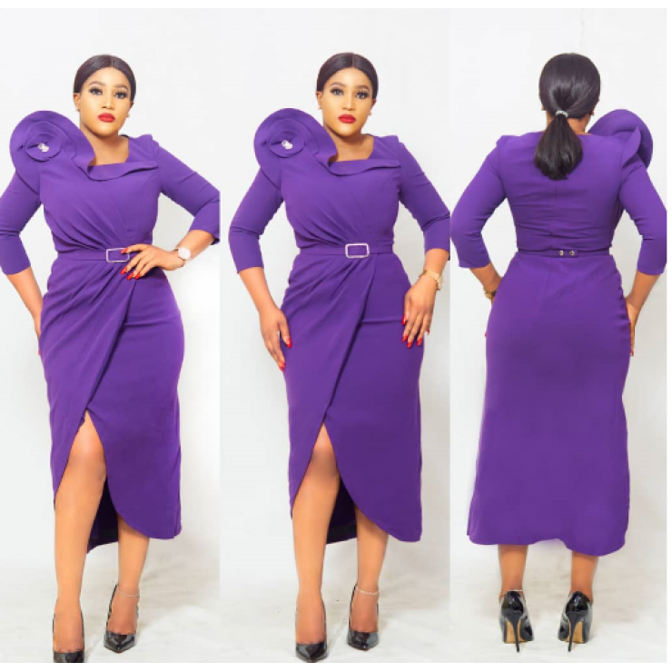 Structured Purple Dress