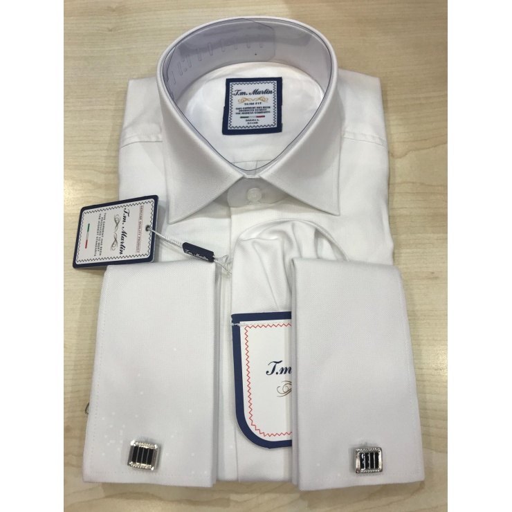 White Cufflinks Tm Martin Shirt