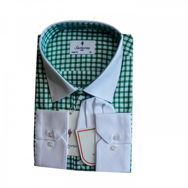 Green checkers Sartoria shirt