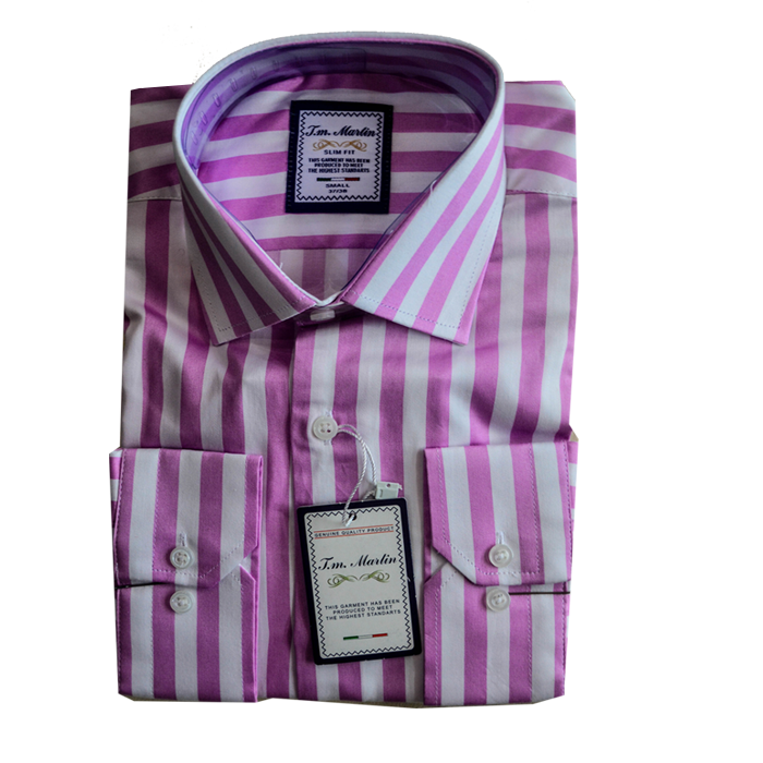 Light Purple stripe Tm Martin shirt
