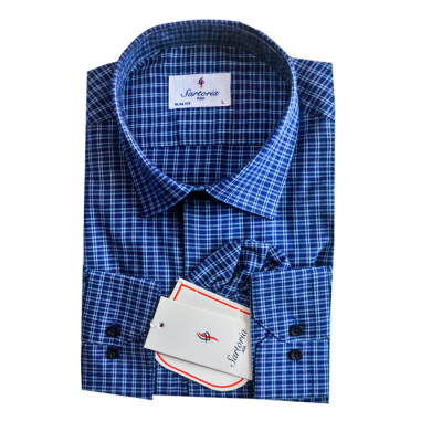 Blue checkers Satoria Shirt