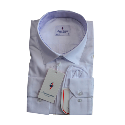 Weaved White Sartoria Shirt