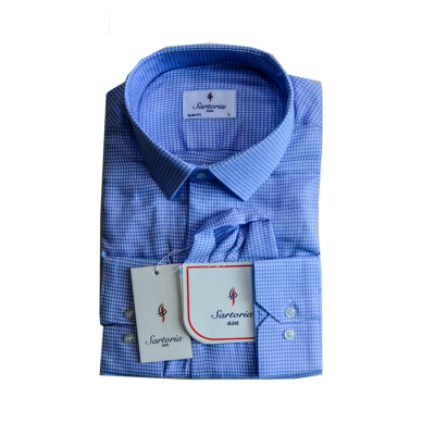 Weaved sky blue Sartoria Shirt